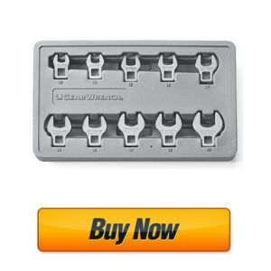 """GEARWRENCH 10 Pc. 3/8"""" Drive Crowfoot Metric Wrench Set"""