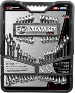 Performance Tool W1099 32pc SAE & MET Wrench Set Tool