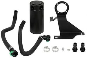Mishimoto MMBCC-F35T-11SBE Baffled Oil Catch Can Compatible With Ford F-150 3.5L Ecoboost 2011-2014 Black